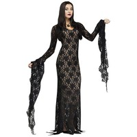 The Addams Family Lace Morticia Costume - Adult