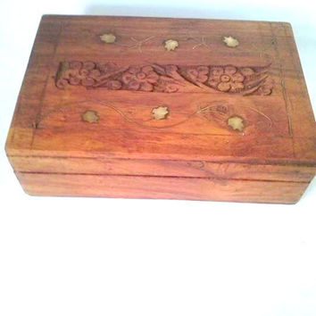 Magic Box organite-La Parra VID flower golden-colored wood clear-ritualize-crafted