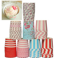 50Pcs Cake Baking Paper Cup Cupcake Heat-resistant Muffin Cases Cups Home Party = 1946366084