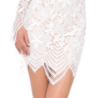 For Love & Lemons Guava skirt in white