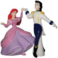 Westland Giftware Life According to Disney Princesses Ariel and Eric Dance 4-Inch Magnetic Salt and Pepper Shakers
