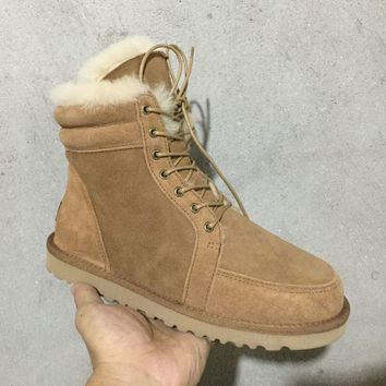 UGG N097 Tall Women Men Fashion Casual Wool Winter Snow Boots Chestnut