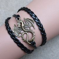 dragon bracelet, character charm bracelet,Personalized Bracelets, the best gift to afriend