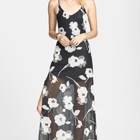 ASTR Floral Applique Lace Maxi Dress (Nordstrom Exclusive)