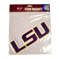 NCAA LSU Tigers 6 Team Logo Magnet, One Size, Yellow