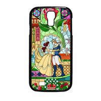 Rose Beauty And The Beast Disney Stained Glass Samsung Galaxy S4 Case