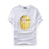 Bape Cotton Summer Print Short Sleeve T-shirts [415650611236]