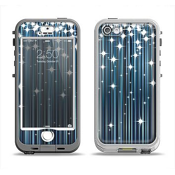 The Dark Blue & White Shimmer Strips Apple iPhone 5-5s LifeProof Nuud Case Skin Set