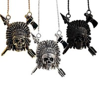Indian Chief Necklace by Han Cholo