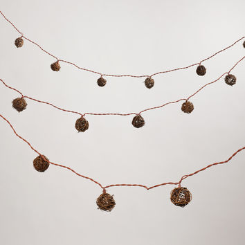 Rattan Ball String Lights - World Market