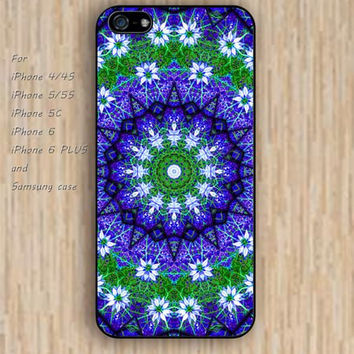 iPhone 5s 6 case colorful green floral mandala phone case iphone case,ipod case,samsung galaxy case available plastic rubber case waterproof B309