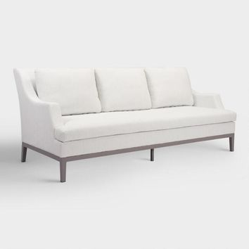 White Evanston Indoor and Outdoor Occasional Sofa
