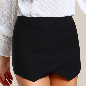 Zip Back Overlap Skort