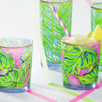 Acrylic Lo-ball Glass Set | 500951 | Lilly Pulitzer