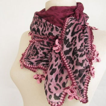 plum scarves-Square scarves-Turkish Oya  Scarf..wedding gift -asuhan-woman scarf-cotton scarf