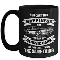 Classic Cars 15 oz Coffee Mug You Can't Buy Happiness