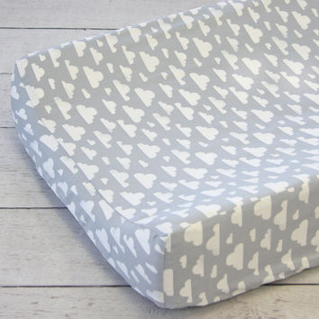 Cloudy Day Changing Pad Cover