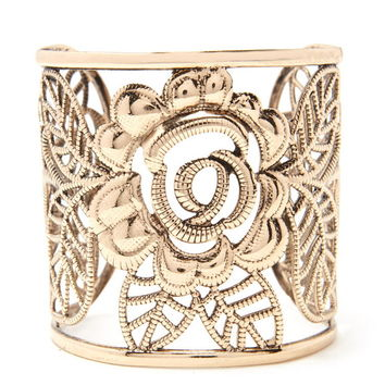 Floral Filigree Cuff | Forever 21 - 1000238144