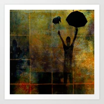 PARAPLUIE Art Print by lucborell