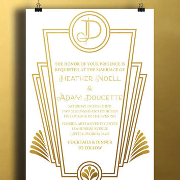 Shop Art Deco Invitations On Wanelo
