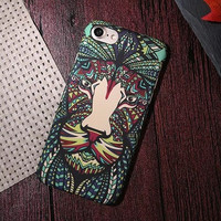 Lion HQ Embossed Feel Phone Case For iPhone 7 7Plus 6 6s Plus 5 5s SE