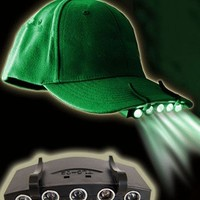 Coffled® Clip-on 5-led Head Cap Hat Light Lamptorch Fishing Camping Hunting Outdoor Lamp (Green, 1)