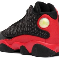 Mens Nike Air Jordan Retro 13 BRED Basketball Shoes Black / Varsity Red / White 414571-010 Size 10.5