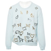 Wool jumper MARY KATRANTZOU Blue