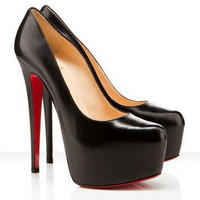Christian Louboutin Daffodile 160mm Leather Black Pumps