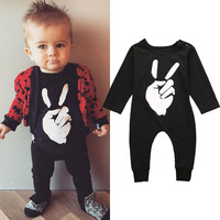Newborn Infant Baby Girls Boys Clothing Fist Romper Long Sleeve Jumpsuit Outfits Baby Boy Clothes