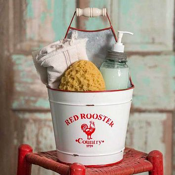 Red Rooster Bucket Caddy