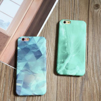Cool blue and green color phone case for iPhone 7 7 plus iphone 6 6s 6 plus 6s plus + Nice gift box 080902
