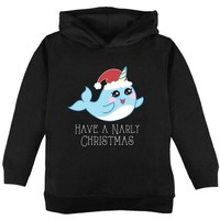 DCCKJY1 Narwhal Have a Narly Gnarly Christmas Toddler Hoodie