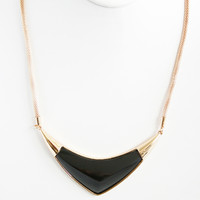 Black Boomerang Necklace Set - Necklace