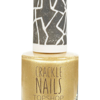 Crackle Topcoat in Gold Digger - Nails - Make Up - Topshop