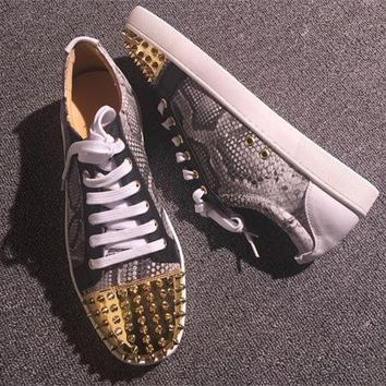 Cl Christian Louboutin Low Style #2076 Sneakers Fashion Shoes