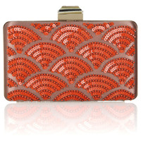 Lanvin Sea Breeze embellished satin-covered metal clutch – 50% at THE OUTNET.COM