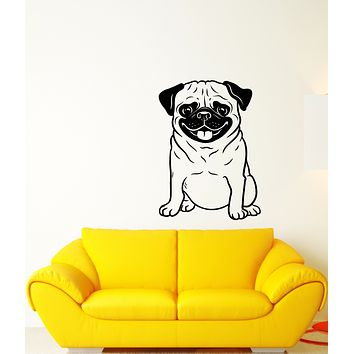 Vinyl Wall Decal Home Animal Pet Pug Puppy Dog Stickers (3304ig)