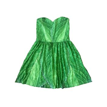 Tinkerbell Inspired Leaf Sweetheart Skater Dress