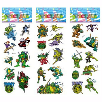 3 Sheets set Teenage Mutant Ninja Turtles TMNT stickers for kids Home decor Diary Notebook Decoration toy cartoon 3D sticker