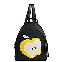 Fendi - Apple Mini Shearling & Nylon Backpack - Saks Fifth Avenue Mobile