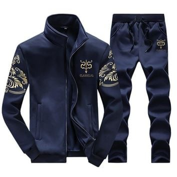 Men's Winter Wool Tracksuit Sportswear Casual Brand Man Leisure Warm Outwear Coats Tracksuits Sets for Male