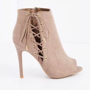 Pink Side Laced Microsuede Shootie by Qupid® | Lace-Up | rue21