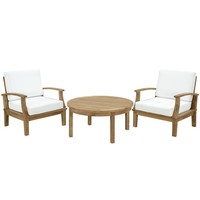 Marina 3 Piece Outdoor Patio Teak Sofa Set