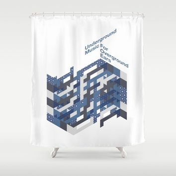 Underground Music Shower Curtain by paulosilveira
