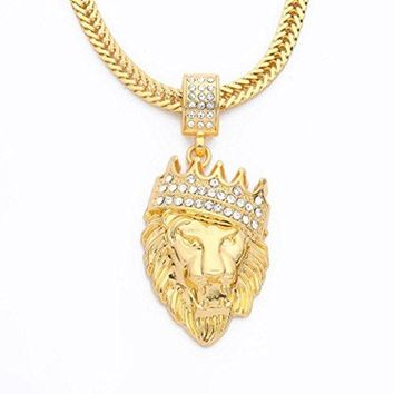 Cuban Lion Pendant Chain Necklace