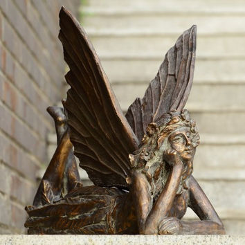 SPI Garden Collection - Resting Fairy Garden Sculpture