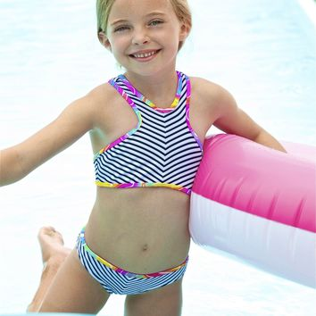 Little Peixoto Regatta Bikini | Designer Kids Swimsuit