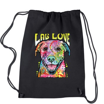Neon Lab Love Drawstring Backpack