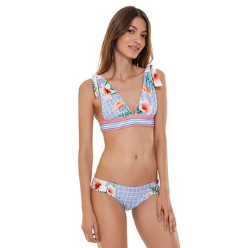 Agua Bendita Laurie Pastel Tropic Top & Zoe Pastel Tropic Bottom Swimwear Set